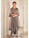 Grey Latest Designer Pure Jam Cotton Palazzo Salwar Suit