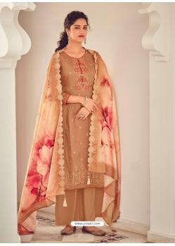 Copper Latest Designer Pure Jam Cotton Palazzo Salwar Suit