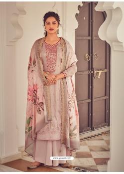 Light Brown Latest Designer Pure Jam Cotton Palazzo Salwar Suit