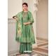 Forest Green Latest Designer Pure Jam Cotton Palazzo Salwar Suit