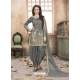 Grey Latest Designer Tafeta Silk Punjabi Patiala Suit