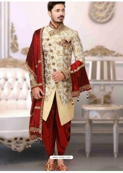 Off White Exclusive Readymade Designer Wedding Sherwani