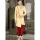 Cream Exclusive Readymade Designer Wedding Sherwani