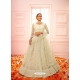 Off White Heavy Designer Bridal Wear Net Lehenga Choli
