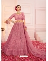 Old Rose Heavy Designer Bridal Wear Net Lehenga Choli