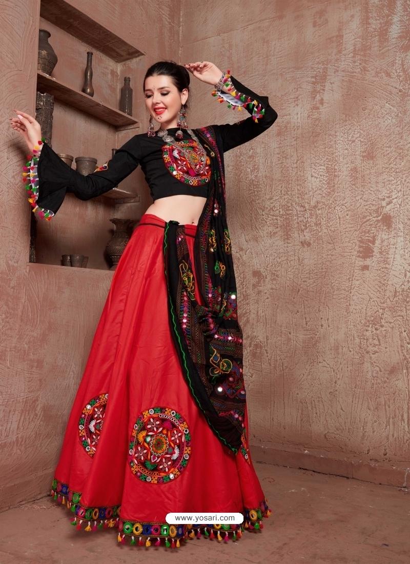 Red Designer Festive Wear Navratri Special Lehenga Choli