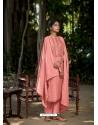 Peach Latest Designer Viscose Muslin Palazzo Salwar Suit