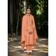 Light Orange Latest Designer Viscose Muslin Palazzo Salwar Suit