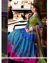 Markable Blue Cotton Resham Anarkali Suits
