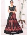 Old Rose Designer Party Wear Mono Net Lehenga Choli
