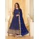 Dark Blue Latest Designer Pure Georgette Anarkali Suit