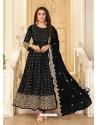 Black Latest Designer Pure Georgette Anarkali Suit
