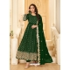 Dark Green Latest Designer Pure Georgette Anarkali Suit
