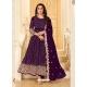 Purple Latest Designer Pure Georgette Anarkali Suit