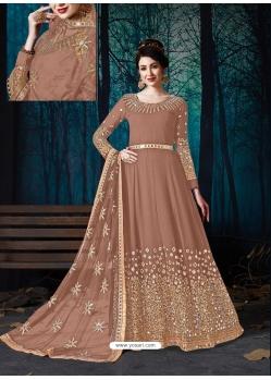 Beige Latest Designer Wedding Wear Anarkali Suit