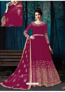 Rose Red Latest Designer Wedding Wear Anarkali Suit