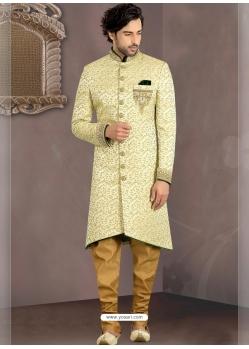 Pista Green Exclusive Readymade Designer Indowestern Sherwani