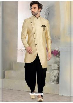 Gold Exclusive Readymade Designer Indowestern Sherwani