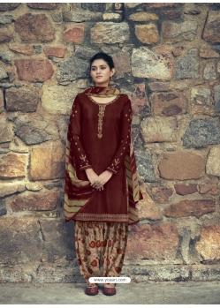 Maroon Designer Party Wear Punjabi Patiala Suit