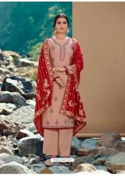 Light Beige Designer Party Wear Palazzo Salwar Suit