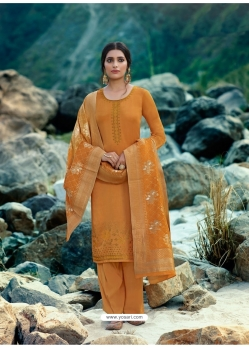 Mustard Designer Party Wear Palazzo Salwar Suit