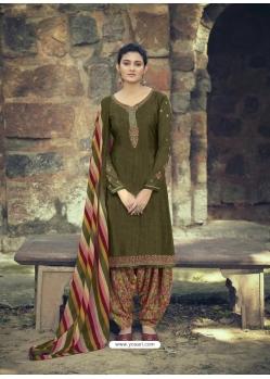 Mehendi Designer Party Wear Punjabi Patiala Suit