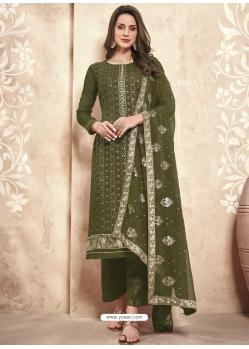Mehendi Designer Party Wear Palazzo Salwar Suit