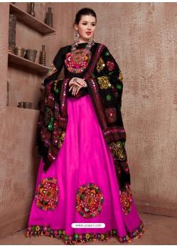 Magenta Designer Festive Wear Navratri Special Lehenga Choli