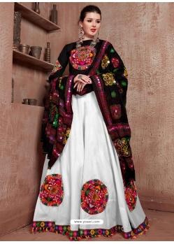 White Designer Festive Wear Navratri Special Lehenga Choli
