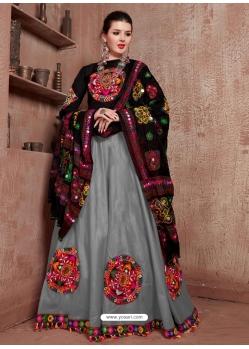 Grey Designer Festive Wear Navratri Special Lehenga Choli