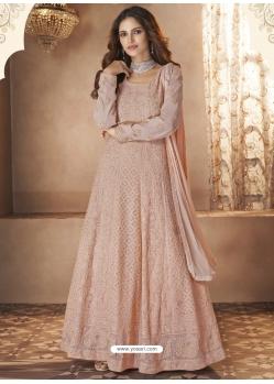 Light Beige Readymade Designer Wedding Wear Anarkali Suit