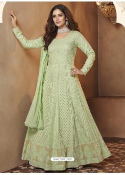 Sea Green Readymade Designer Wedding Wear Anarkali Suit
