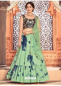 Sea Green Heavy Designer Festive Wear Lehenga Choli