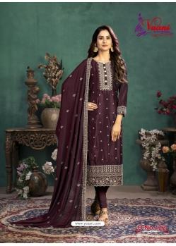 Deep Wine Designer Party Wear Silk Churidar Salwar Suit