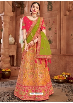 Mustard Heavy Designer Wedding Wear Lehenga Choli