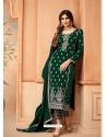 Dark Green Designer Festive Wear Faux Georgette Palazzo Suit