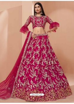 Rani Heavy Designer Bridal Wedding Wear Net Lehenga Choli