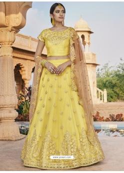 Yellow Heavy Designer Wedding Wear Lehenga Choli