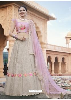 Taupe Heavy Designer Wedding Wear Lehenga Choli