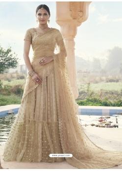 Gold Heavy Designer Wedding Wear Lehenga Choli