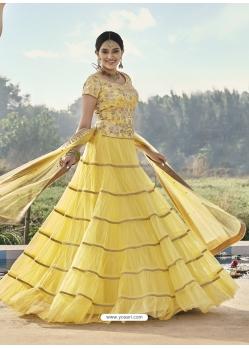 Light Yellow Heavy Designer Wedding Wear Lehenga Choli