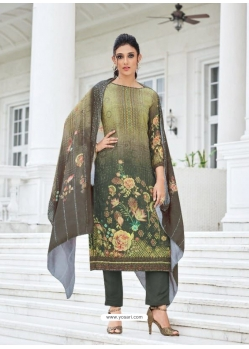 Green Digital Printed Designer Pure Viscose Muslin Salwar Suit