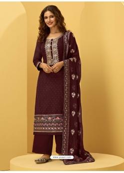 Maroon Heavy Designer Bridal Alizeh Georgette Salwar Suit
