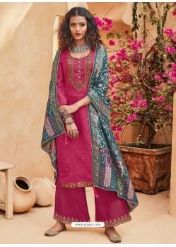 Rani Heavy Designer Wedding Pure Kuntal Silk Salwar Suit