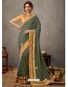 Mehendi Designer Wedding Wear Silk Sari