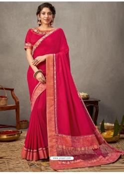 Rani Designer Wedding Wear Silk Sari