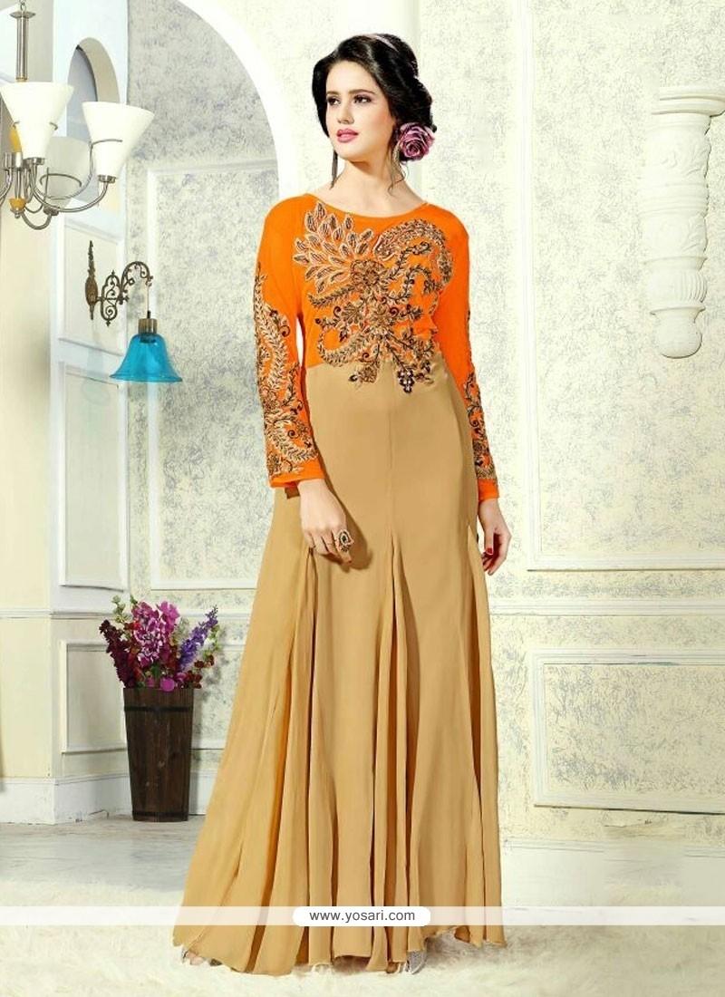 74c6780e6e Shop online Groovy Net Zari Work Designer Gown