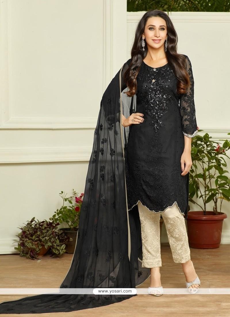 769aa4c8224 Shop online Karishma Kapoor Georgette Black Designer Pakistani Suit