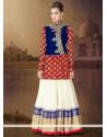 Multi Color Velvet Net Anarkali Suits