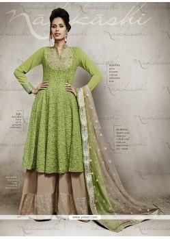 Beguiling Resham Work Designer Palazzo Salwar Suit